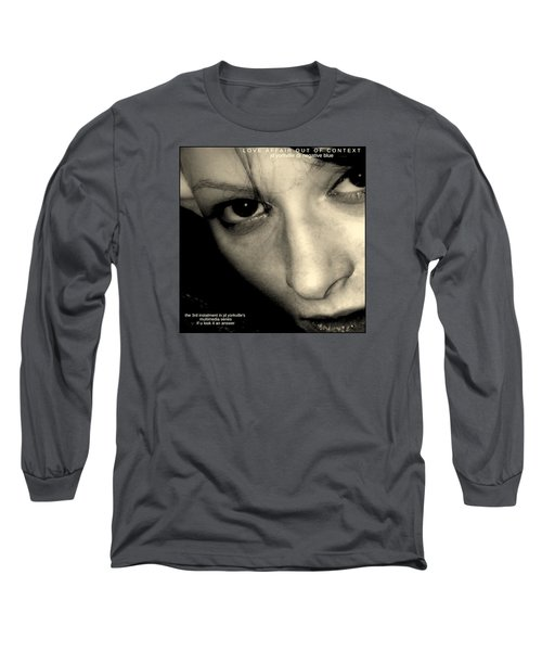 Love Affair Out Of Context A Bogus Album Cover Long Sleeve T-Shirt by Jack Dillhunt