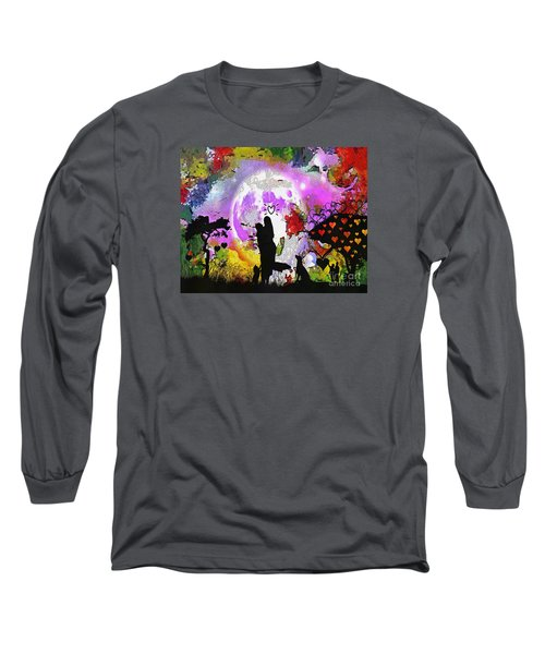 Love Family And Friendship In The Mix Long Sleeve T-Shirt by Catherine Lott