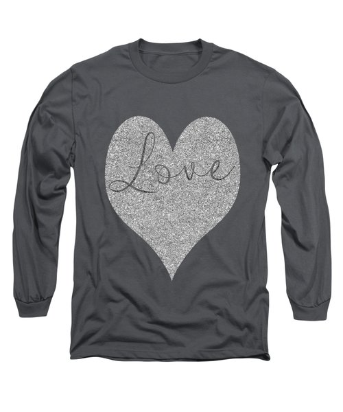 Love Heart Glitter Long Sleeve T-Shirt by Clare Bambers