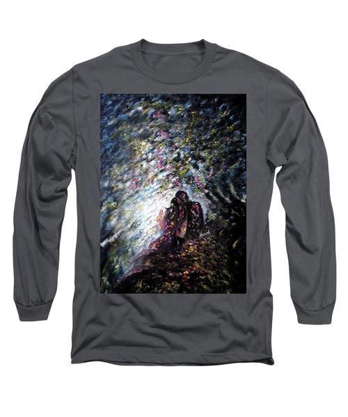 Love In Niagara Fall Long Sleeve T-Shirt by Harsh Malik