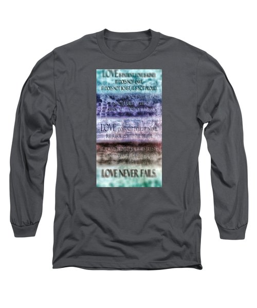 Long Sleeve T-Shirt featuring the digital art Love Rejoices With The Truth by Angelina Vick