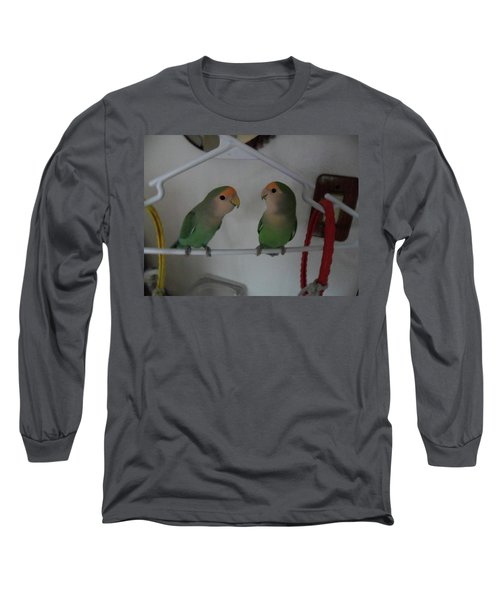 Lovebirds Long Sleeve T-Shirt by Val Oconnor