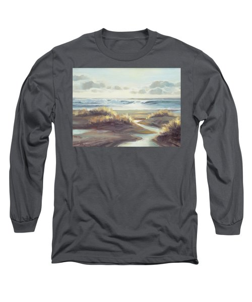 Long Sleeve T-Shirt featuring the painting Low Tide by Steve Henderson