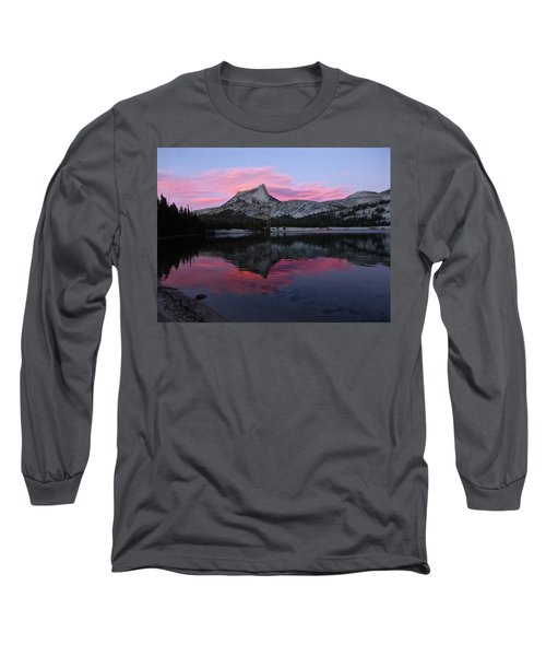 Lower Cathedral Lake Sunset Long Sleeve T-Shirt by Amelia Racca