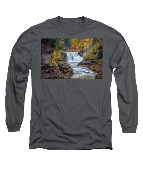Lower Falls In Autumn Long Sleeve T-Shirt