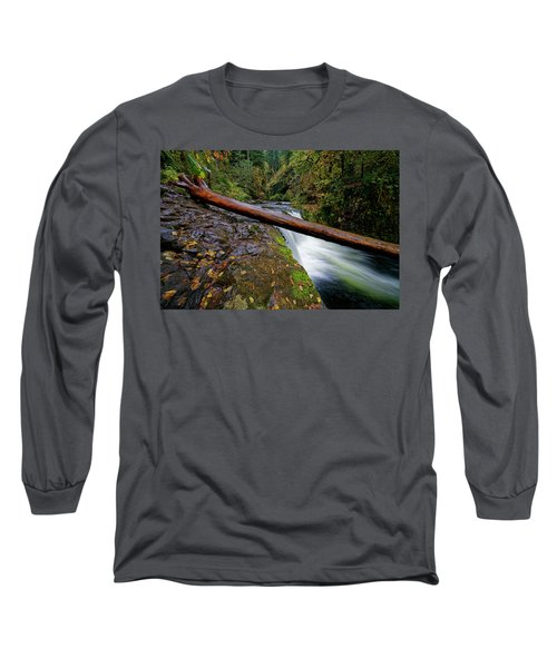 Long Sleeve T-Shirt featuring the photograph Lower Punch Bowl Falls by Jonathan Davison