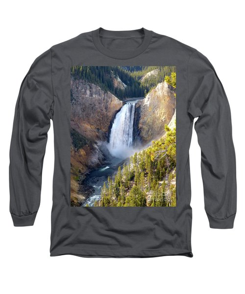 Lower Yellowstone Falls From Inspiration Point Long Sleeve T-Shirt