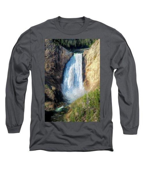 Lower Yellowstone Falls Long Sleeve T-Shirt