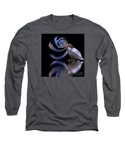 Loxodrome And Swan Long Sleeve T-Shirt
