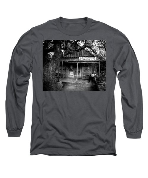 Long Sleeve T-Shirt featuring the photograph Luckenbach Texas by David Morefield