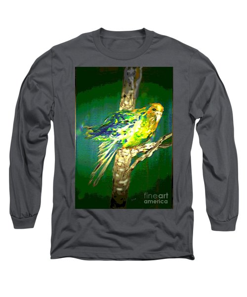 Long Sleeve T-Shirt featuring the painting Lucky Louie by Desline Vitto