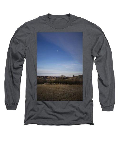 Lumsden Moon Rising Long Sleeve T-Shirt by Ellery Russell