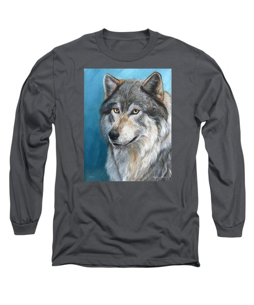 Long Sleeve T-Shirt featuring the painting Luna by Sherry Shipley