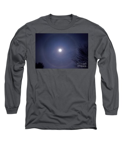Lunar Corona Long Sleeve T-Shirt by Sue Stefanowicz