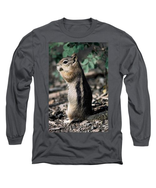 Long Sleeve T-Shirt featuring the photograph Lunchtime For Ground Squirrel by Sally Weigand