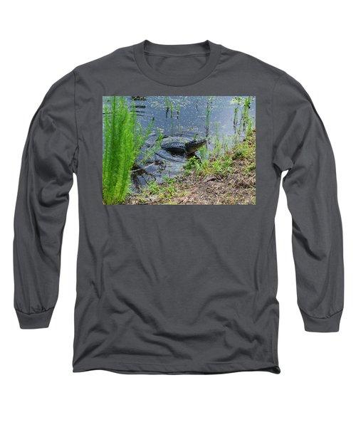 Lunging Bull Gator Long Sleeve T-Shirt by Warren Thompson
