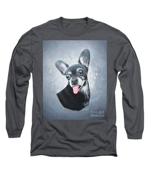 Long Sleeve T-Shirt featuring the painting Lupe by Mike Ivey