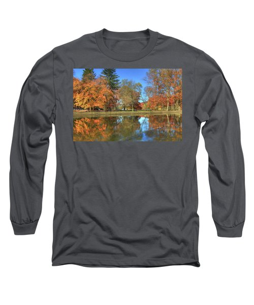 Long Sleeve T-Shirt featuring the photograph Lykens Glen Reflections by Lori Deiter