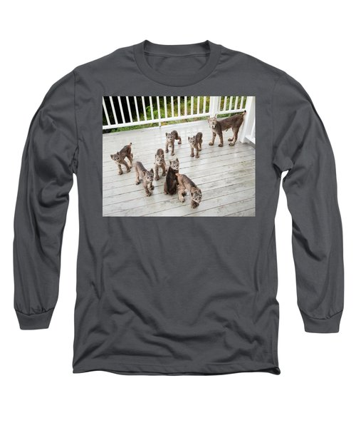 Lynx Family Portrait 11x14 Long Sleeve T-Shirt