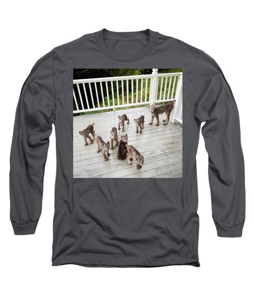 Lynx Family Portrait Long Sleeve T-Shirt