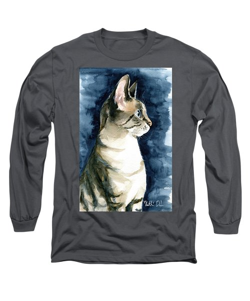Lynx Point Cat Portrait Long Sleeve T-Shirt