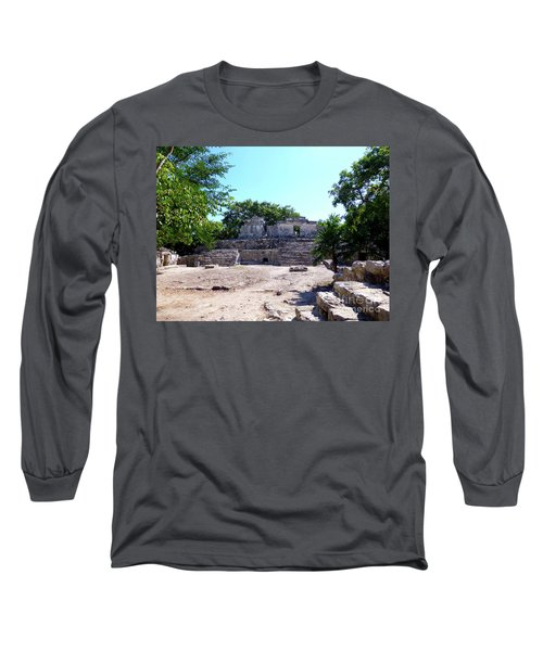 Long Sleeve T-Shirt featuring the photograph M Ruin by Francesca Mackenney
