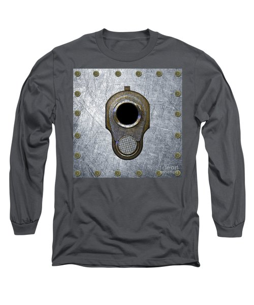 M1911 45 Framed With 45 Case Heads Long Sleeve T-Shirt