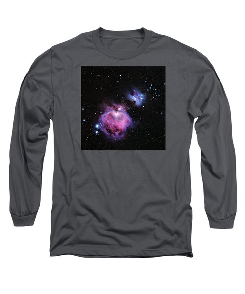 M42--the Great Nebula In Orion Long Sleeve T-Shirt by Alan Vance Ley