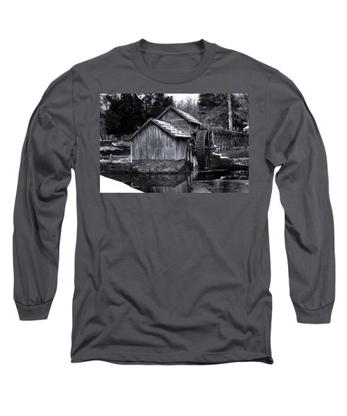 Mabry Mill Bw Light Snow Long Sleeve T-Shirt