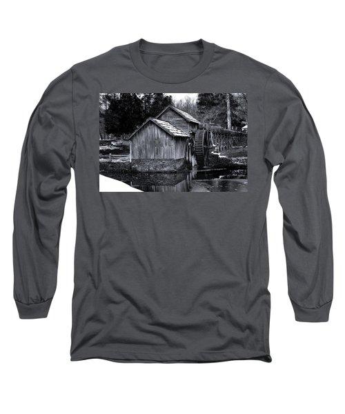 Mabry Mill Bw Light Snow Long Sleeve T-Shirt