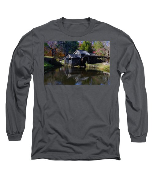 Long Sleeve T-Shirt featuring the photograph Mabrys Mill On The Blue Ridge by B Wayne Mullins