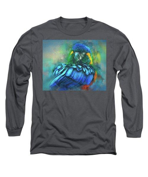 Macaw Magic Long Sleeve T-Shirt by Brian Tarr