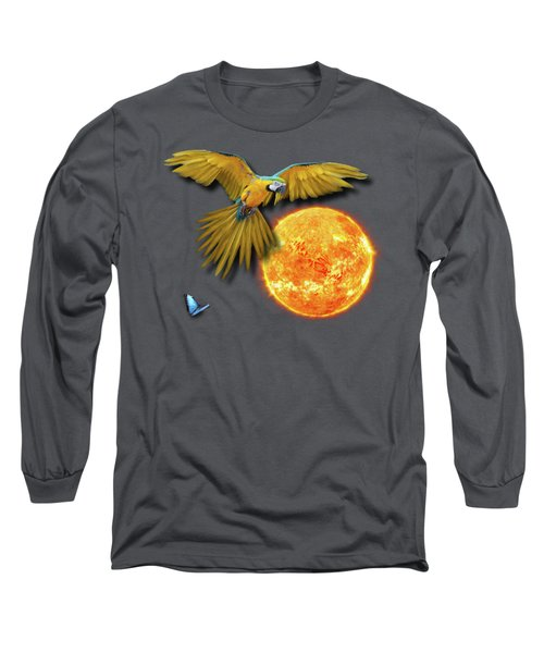 Macaw Sun Long Sleeve T-Shirt by iMia dEsigN