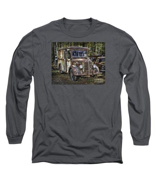 Very Old Mack Truck Long Sleeve T-Shirt by Walt Foegelle