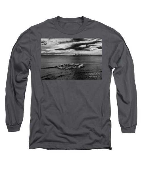 Mackinac Bridge - Infrared 03 Long Sleeve T-Shirt
