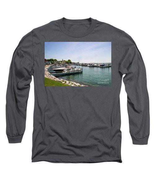 Mackinac Island Marina Long Sleeve T-Shirt