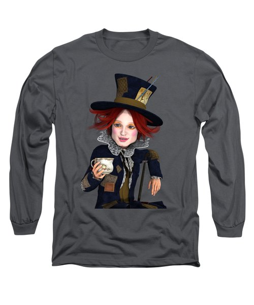 Mad Hatter Portrait Long Sleeve T-Shirt