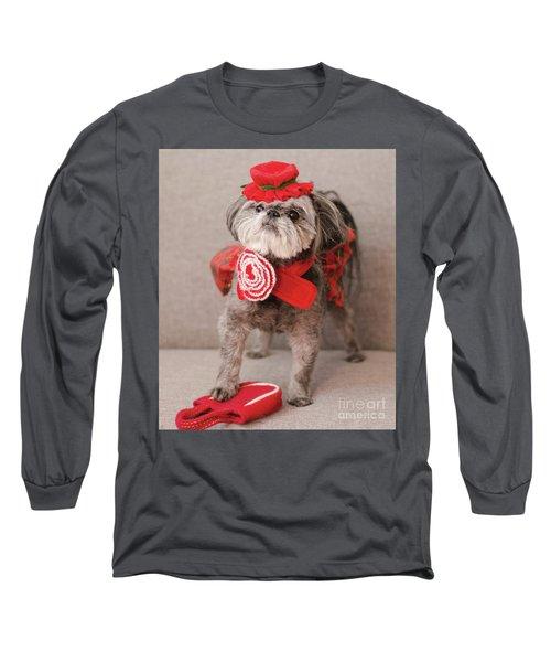 Madam Scarlett In All Red Long Sleeve T-Shirt