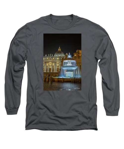 Maderno's Fountain Long Sleeve T-Shirt by Ed Cilley