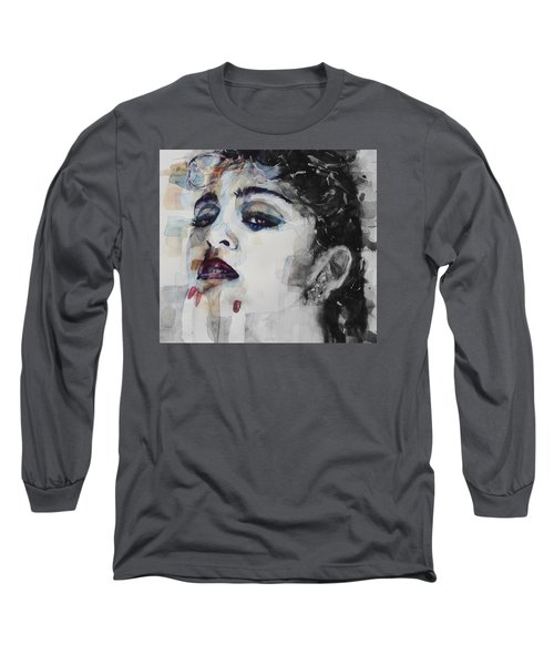 Long Sleeve T-Shirt featuring the mixed media Madonna  Like A Prayer by Paul Lovering