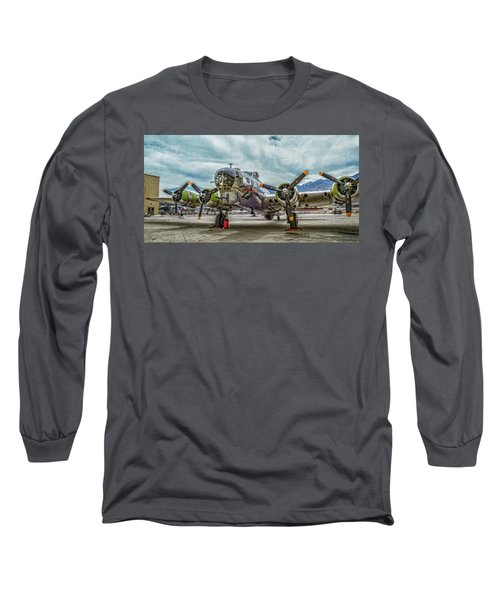 Madras Maiden B-17 Bomber Long Sleeve T-Shirt