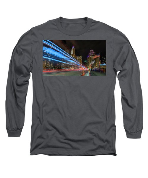 Long Sleeve T-Shirt featuring the photograph Mag Mile Warp Speed by Sean Foster