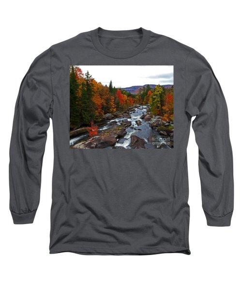 Magalloway River In Fall Long Sleeve T-Shirt