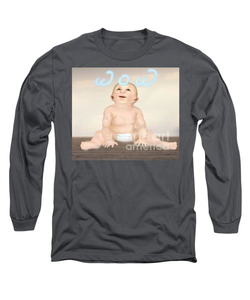 magic baby face-WOW Long Sleeve T-Shirt