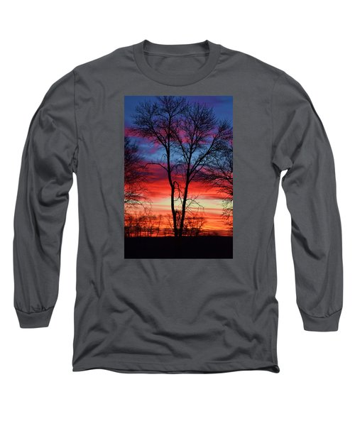 Magical Colors In The Sky Long Sleeve T-Shirt by Dacia Doroff