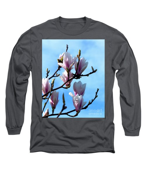 Magnolia Blooms Long Sleeve T-Shirt by Stephen Melia