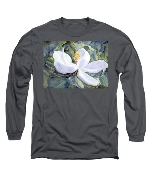 Magnolia Blossom Long Sleeve T-Shirt by Barry Jones