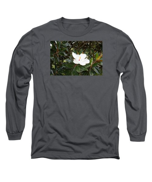 Long Sleeve T-Shirt featuring the photograph Magnolia Blossom by Linda Geiger