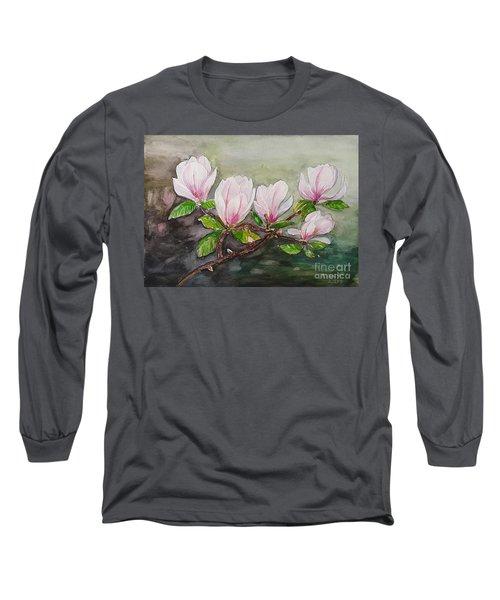 Magnolia Blossom - Painting Long Sleeve T-Shirt