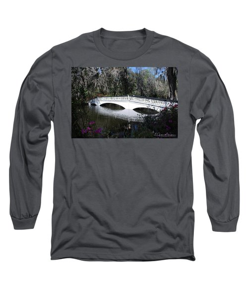 Magnolia Plantation Bridge Long Sleeve T-Shirt by Gordon Mooneyhan